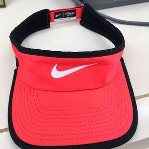 Coral Nike visor hat